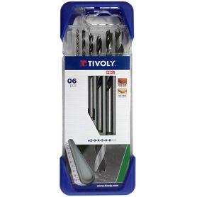 Estuche 6 brocas madera Pro Tivoly