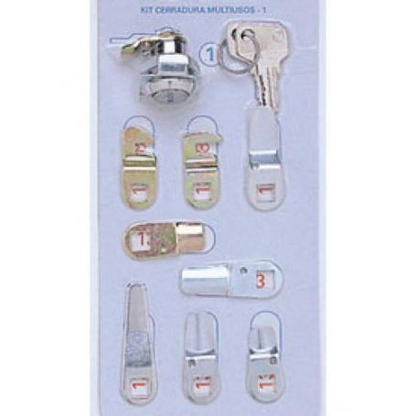 Kit cerraduras nº 1 cromo blister de 7 lenguetas BTV