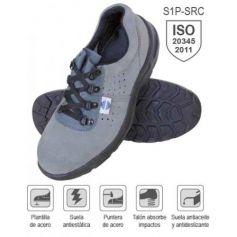 Zapato seguridad serraje perforado talla 45 mod SA-325 Chintex