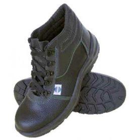 Bota de seguridad piel negra con cordones t45 chintex