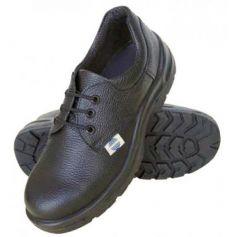 Zapato de seguridad talla 45 piel negra con cordones SA-1019 Chintex