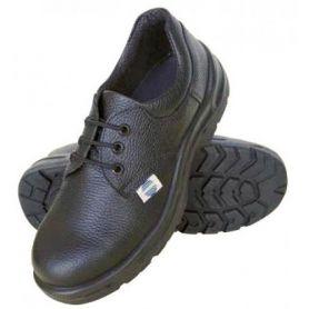 Zapato de seguridad piel negra con cordones t46 chintex