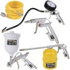 Set básico de accesorios para compresor de aire Powerplus