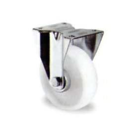 Rueda con base fija Premium PBR 125/38 polipropileno Cascoo