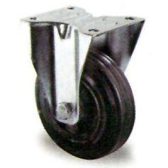 Rueda con base fija goma negra GSR 80/25 Premium Cascoo