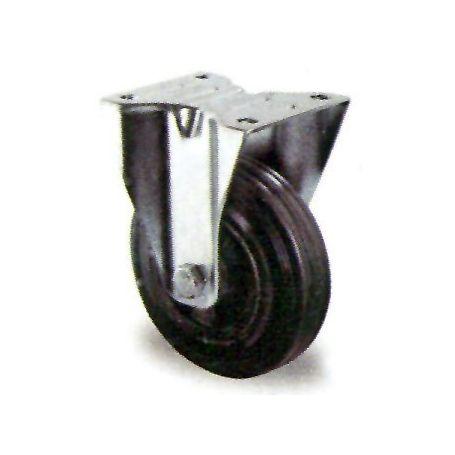 Rueda con base fija goma negra GSR 125/30 Premium Cascoo