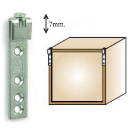 Colgador regulable armario 7mm Cufesan
