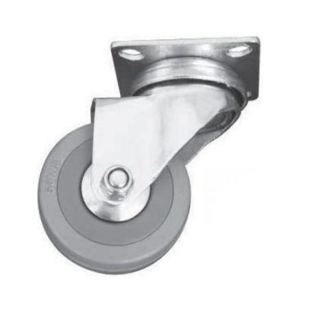 Rueda con placa 40mm gris Cufesan
