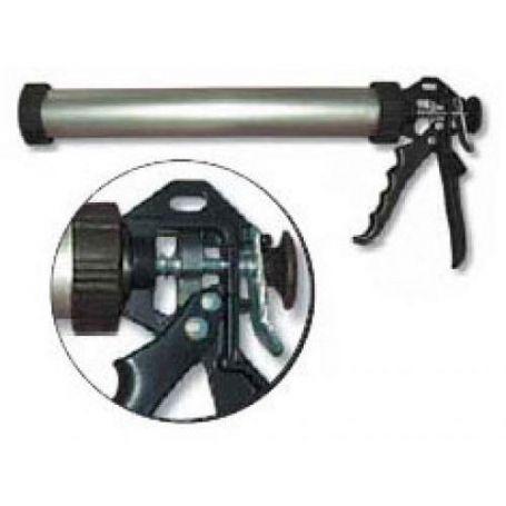 "Pistola tubular de aluminio silicona-masilla 9"" Tefer"