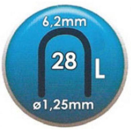 Grapa Clavex Nº 28 9mm caja 2000 unidades Siesa