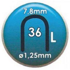 Grapa Clavex Nº 36 14mm caja 2000 unidades Siesa