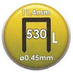 Grapa Clavex Nº 530 12mm caja 5000 unidades Siesa