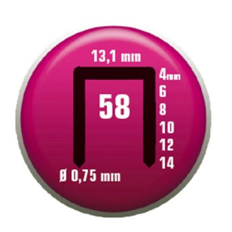 Grapa Clavex Nº 58 10mm caja 5000 unidades Siesa
