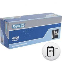 Grapa Nº 606 12mm caja 4000 unidades Rapid