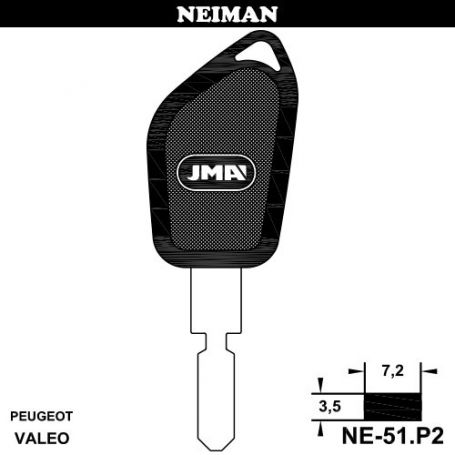 Llave para vehiculo Neiman NE-51P2