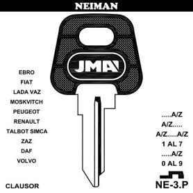 Llave para vehículos NEIMAN NE-3P (bolsa 10 unidades) JMA