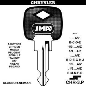 Llave para vehículos CHRYSLER CHR-3P (bolsa 10 unidades) JMA