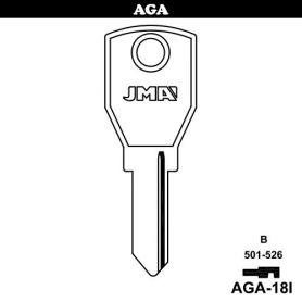 Llave serreta grupo B modelo AGA-18I acero (caja 50 unidades) JMA