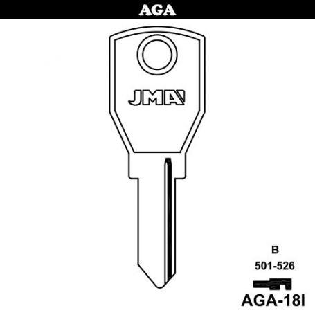 Llave serreta grupo B modelo AGA-18I acero
