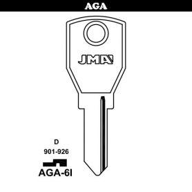 Llave serreta grupo B modelo AGA-6I acero (caja 50 unidades) JMA