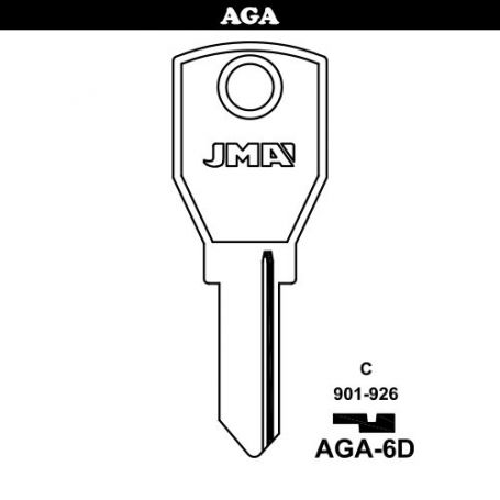 Llave serreta grupo B modelo AGA-6D acero