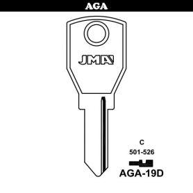 Llave serreta grupo B modelo AGA-19D (caja 50 unidades) JMA