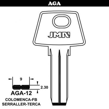 Llave seguridad latón modelo AGA-12