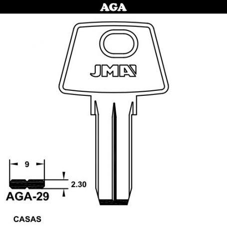 Llave seguridad acero modelo AGA-29