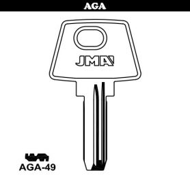 Llave seguridad laton modelo AGA-49 (bolsa 10 unidades) JMA
