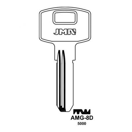 Llave seguridad laton modelo AMG-8D