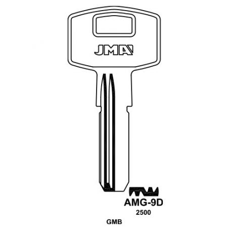 Llave serreta grupo C modelo AMG-9D (bolsa 10 unidades) JMA