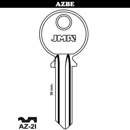 Llave serreta grupo B modelo AZ-2I (caja 50 unidades) JMA
