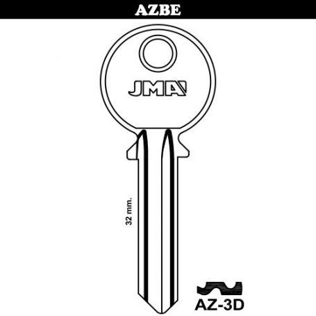 Llave serreta grupo B modelo AZ-3D (caja 50 unidades) JMA