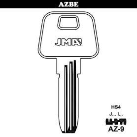 Llave de seguridad alpaca mod AZ-9 (bolsa 10 unidades) JMA