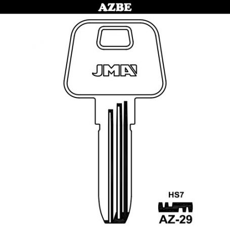Llave de seguridad laton modelo AZ-29 (bolsa 10 unidades) JMA