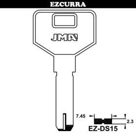 Llave de seguridad modelo EZ-DS15 de latón (bolsa 10 unidades) JMA