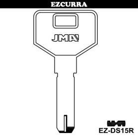Llave seguridad modelo EZ-DS15R laton (bolsa 10 unidades) JMA