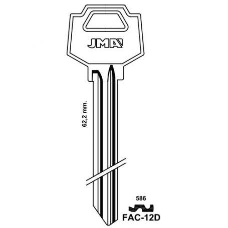 Llave serreta largo especial modelo FAC-12D (caja 50 unidades) JMA