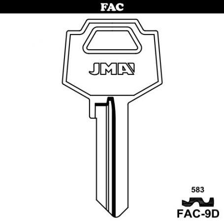 Llave serreta grupo B modelo FAC-9D (caja 50 unidades) JMA