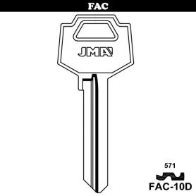 Llave serreta grupo B modelo FAC-10D (caja 50 unidades) JMA