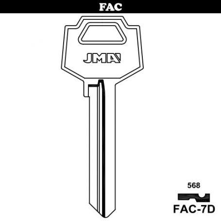 Llave serreta grupo B modelo FAC-7D (caja 50 unidades) JMA