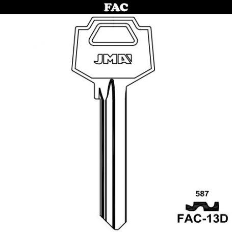 Llave serreta grupo B modelo FAC-13D (caja 50 unidades) JMA