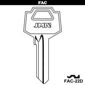 Llave serreta grupo B modelo FAC-22D (caja 50 unidades) JMA