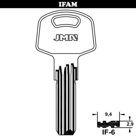 Llave de seguridad modelo IF-6 de acero
