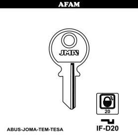 Llave serreta grupo B modelo IF-D20 (caja 50 unidades) JMA