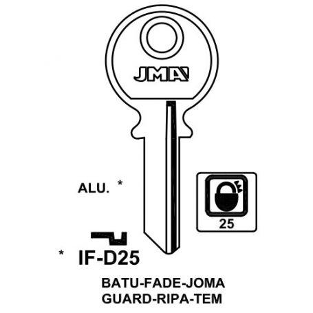 Llave serreta grupo B modelo IF-D25 (caja 50 unidades) JMA