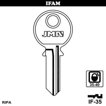 Llave serreta grupo B modelo IF-35 acero (caja 50 unidades) JMA