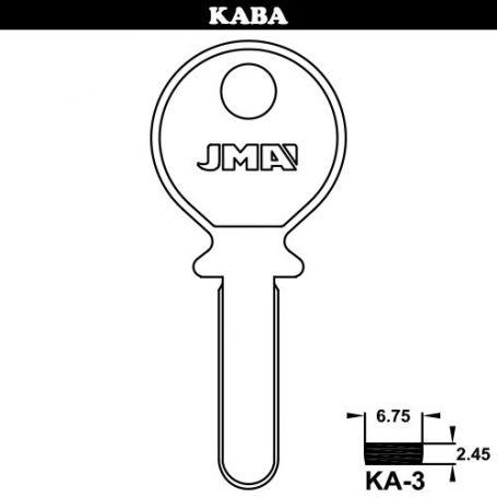 Llave de seguridad modelo KA-3 de acero