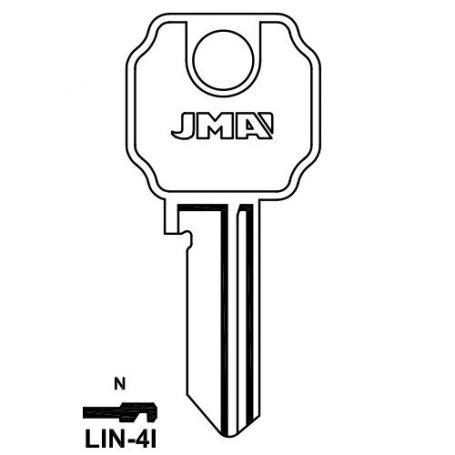 Llave serreta grupo b modelo lin4i (caja 50 unidades) JMA