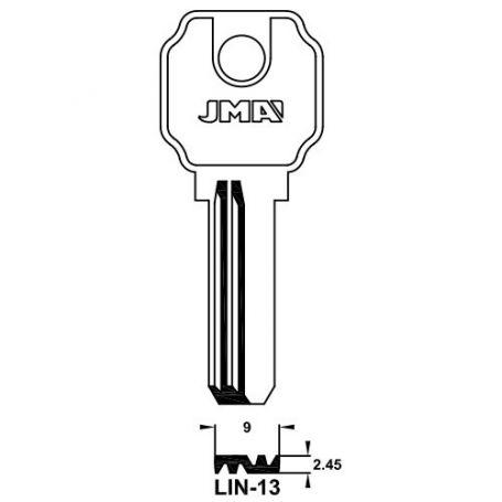 Llave de seguridad modelo LIN-13 de acero